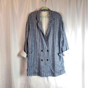 NWOT Striped linen jacket